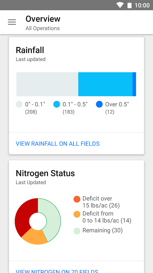 Climate FieldView™- screenshot