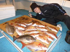 Photo: 初船釣りでした! 次は3月~4月のノボリ鯛のシーズンに。 お疲れ様でした!