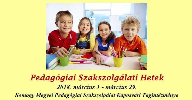 Pedagógiai Szakszolgálati Hetek 2018 - Kaposvári Tagintézmény