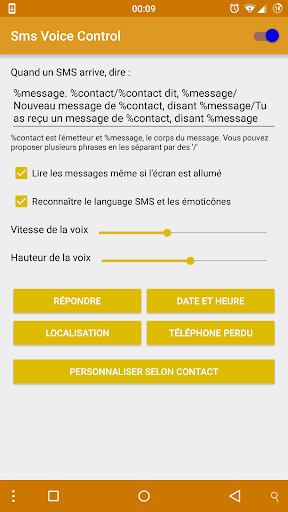 SMS Voice Control