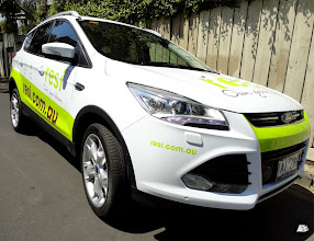 Photo: Partial vehicle wrap on 2 Ford Kugas, one for Melbourne, the other for Sydney. #partialvehiclewrap #RESI #ownyourdream #AutoSkin #driveyourbrandhome #FordKuga