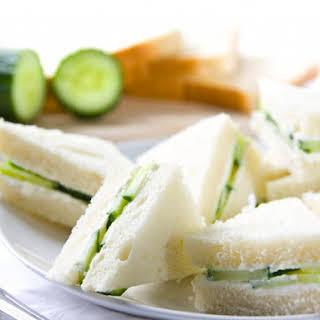 Cucumber and Watercress Tea Sandwich.