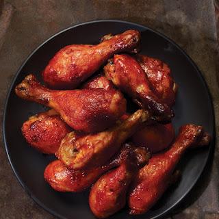 Maple-Glazed Chicken Drumsticks.