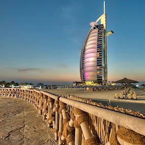 Bhurj Al Arab at Twilight by Vic Pacursa - Buildings & Architecture Office Buildings & Hotels ( bhurjalrab, dubai, buildings, unitedarabemirates, architecture, hotel )