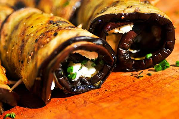Grilled Eggplant Roll Ups Recipe