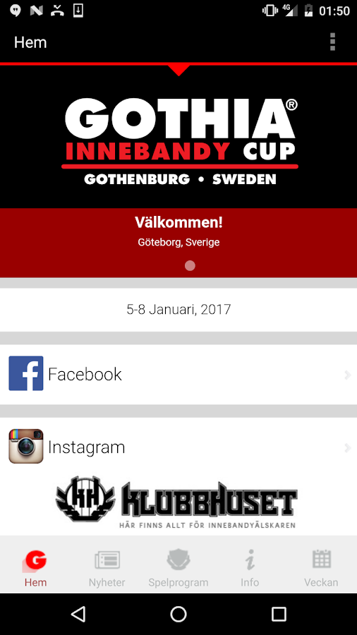 Gothia Innebandy Cup- screenshot
