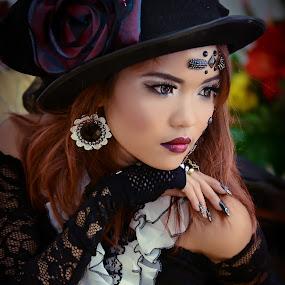 Longing. by Muhammad Fairuz Samsubaha - People Portraits of Women ( model, anat, beauty, women, portrait, photography )
