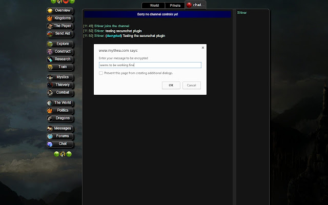 Mythea Secure Chat
