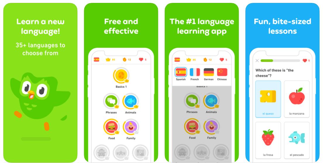 Example of eLearning gamification: Duolingo