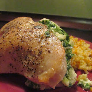 Jenny's Feta and Spinach Stuffed Chicken Breasts.