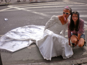 Photo: Everywhere we went, strangers wanted to stop us and pose for pictures.  Gay pride festivities, Seventh Avenue South and Bleecker Street, Greenwich Village, 26 June 2011. (Photograph by Elyaqim Mosheh Adam.)