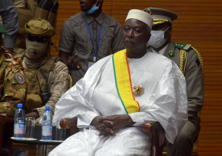 The new interim president of Mali Bah Ndaw speaks as he attends the Inauguration ceremony in Bamako, Mali September 25, 2020.