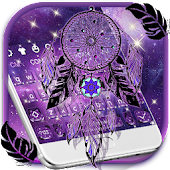 Purple Galaxy Dream Catcher Keyboard