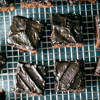 Healthy Chocolate Zucchini Cake with Avocado Chocolate Frosting.
