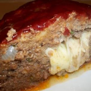 Mozzarella Stuffed Meatloaf.