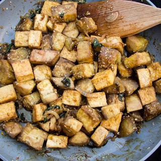Basil Eggplant and Tofu [Vegan].