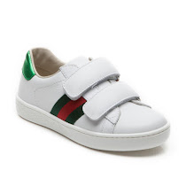 Gucci Leather Web Trainer Kid KID VELCRO