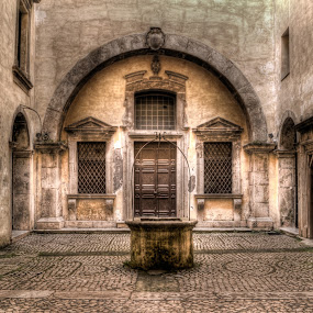 cortile by Riccardo Lazzari - Buildings & Architecture Other Exteriors ( old, hdr, gaeta, cortile, italy )