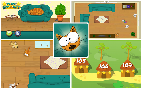 FlatFatCat - Funny casual puzzle game with kittens- screenshot thumbnail