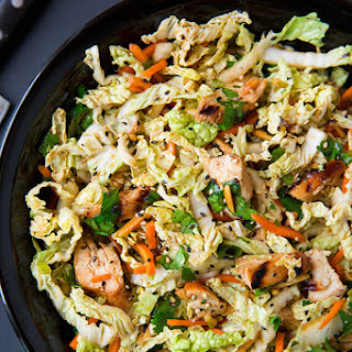 Grilled Ginger-Sesame Chicken Chopped Salad.