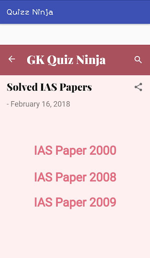 GK Quiz  Ninja : With IAS Papers 1.9 screenshots 4