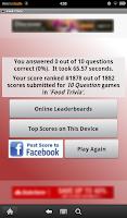 Screenshot of Food Trivia