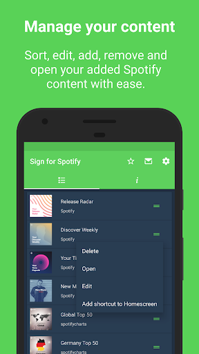 Sign for Spotify - Spotify Widgets and Shortcuts screenshot 10