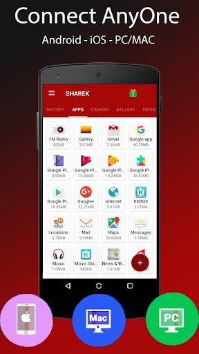 Sharek - Share Music & Transfer Files 1.3.85 screenshots 2