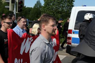 Photo: David Petereit (MdL NPD/ ehml. HDJ/ Anmelder der Demo)