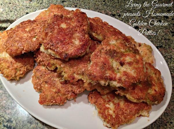 Homemade Golden Chicken Patties Recipe