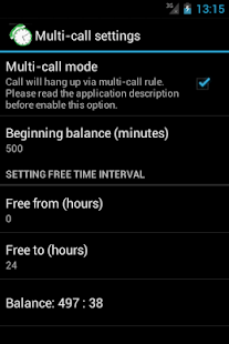 Call-Timer Screenshot