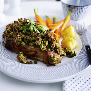 Pork Chops with Pistachio Crust.