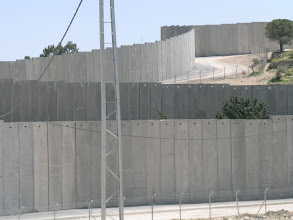 Photo: Separation Wall at Abu Dis, Jerusalem, seen from the western side