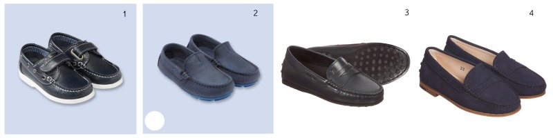 Wimbledon 2016: Spectator Style for Kids Jacadi, Velcro Strap Boat Shoes in Navy Blue £56 Jacadi, Dressy Suede Moccasins in Navy Blue £60 Tod's Navy Blue leather 'Gommino' Moccasins £150 Tod's Navy Blue  Suede 'New Citta' Loafers £165