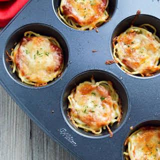 Mini Spaghetti Pies {Leftover Recipe}.
