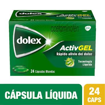 DOLEX Activ Gel 500mg   Cápsulas Líquidas Caja x24Cap. GSK Acetaminofén