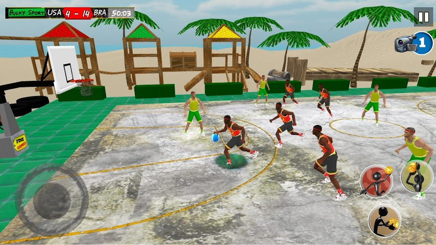 Real Beach Basketball 2017 Android App Screenshot