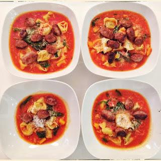 Sausage & Tortelloni Soup