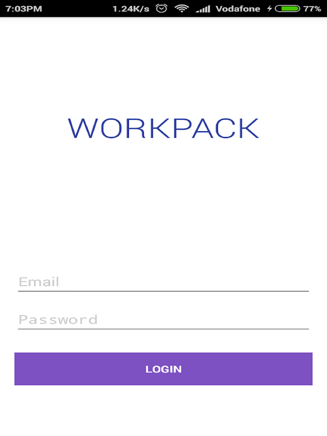 Workpack App- screenshot