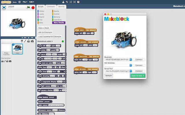 Makeblock mBot for Scratch X