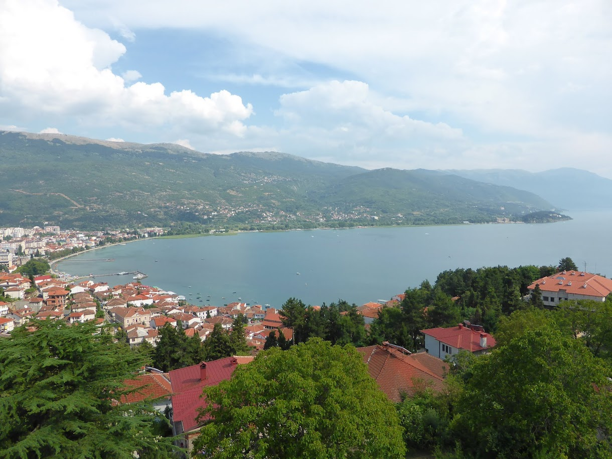 View of the city and lake of Ohrid from Samuel's fortress, Macedonia