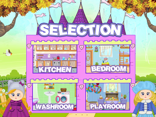 Pretend Play Doll House: Town Family Mansion Fun android2mod screenshots 2