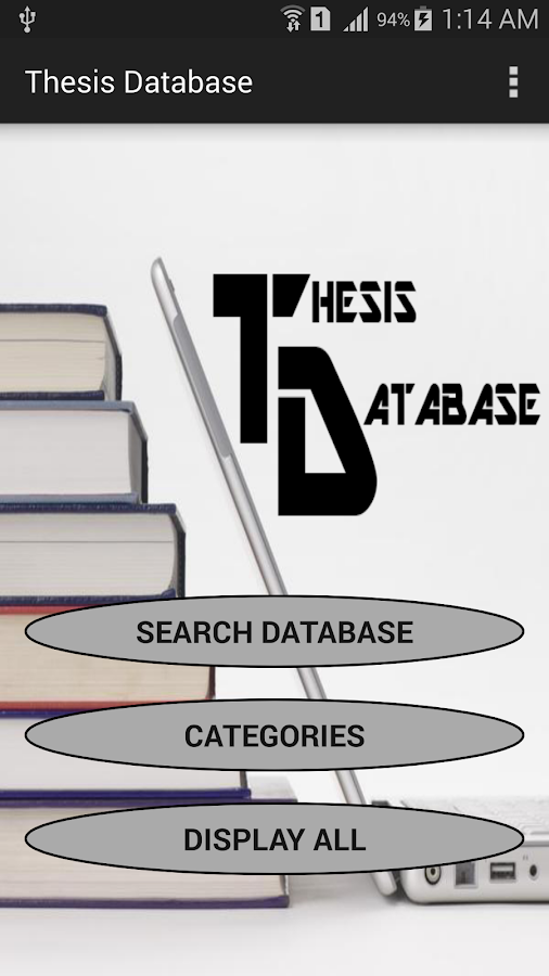 thesis dissertations database