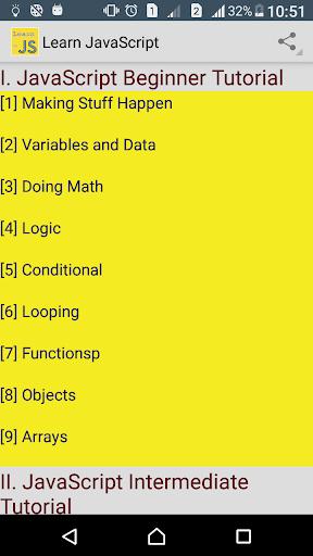Learn JavaScript easy screenshot 1