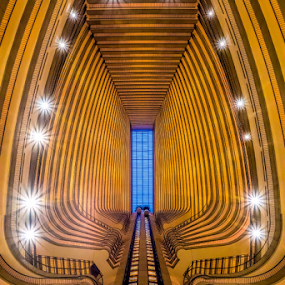 Spinal Chord by Christopher Pischel - Buildings & Architecture Office Buildings & Hotels ( abstract, atrium, marriott, lines, architecture, hotel, atlanta, balcony )
