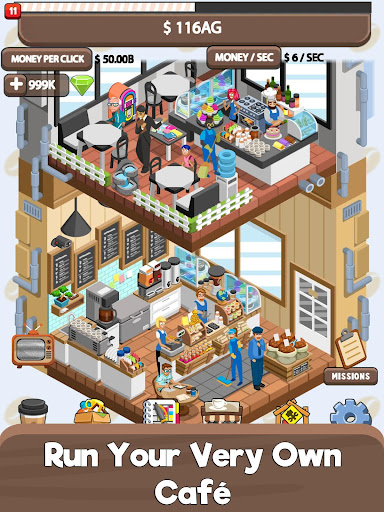 Idle Cafe Tycoon - My Own Clicker Tap Coffee Shop  captures d'u00e9cran 1