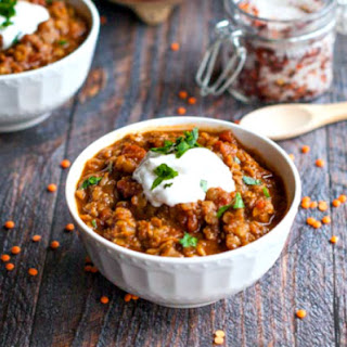 Spicy Mexican Red Lentils.