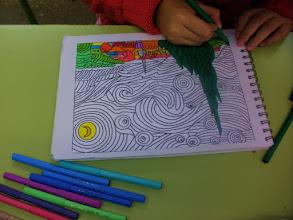 """Photo: Van Gogh """"La Noche estrellada"""" Alumnado 5º"""