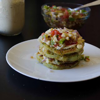 Fried Green Tomatoes with Corn Relish