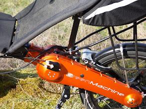 Photo: Commande Rholoff, cadenas, logo gravé au laser, frein a tambour 90 en Alu avecrevêtementcéramique